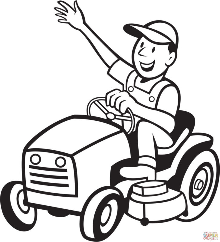 farmer-riding-a-tractor-mower-coloring-page